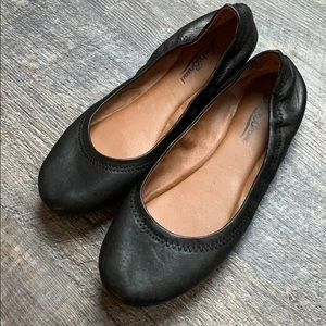 Lucky Brand black leather flats NWOT 8 soft
